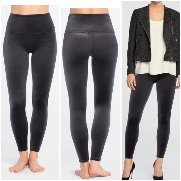 901a76e9fc850 SPANX Pants | Nwt Velvet Leggings In Moon Shadow Size L | Poshmark